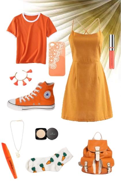 orange- Fashion set