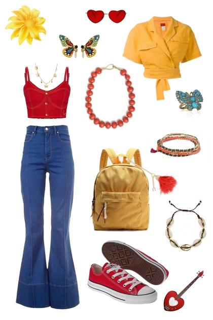 70's inspired California Butterfly Teen