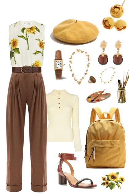 Art Student Sunflower