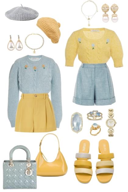 Blue/Yellow Besties/Girlfriends