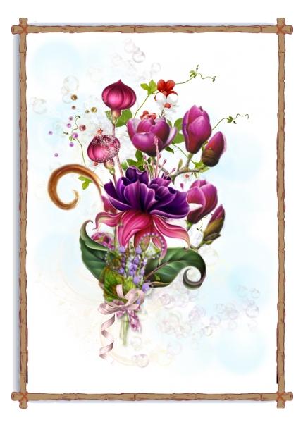 Purple Flowers- Fashion set