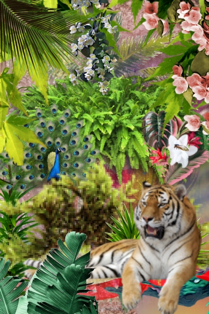 Tiger having a rest