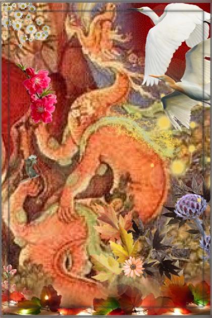 A gentle dragon- Fashion set