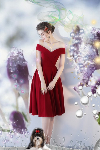 A girl in red- Fashion set