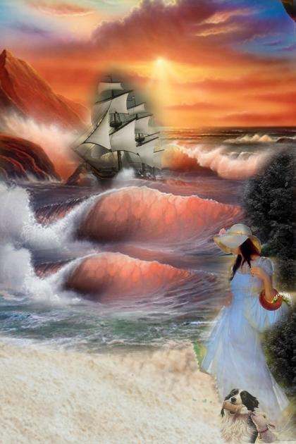 The rough sea