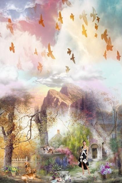 Birds in the sky- Combinazione di moda