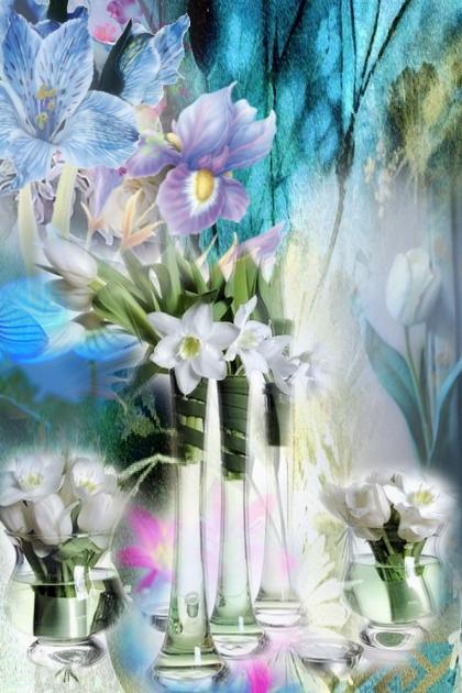 Fluttering petals