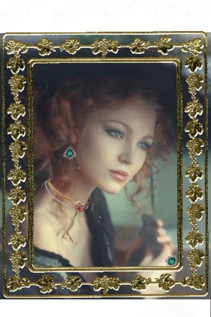 Portrait of a greeneyed lady