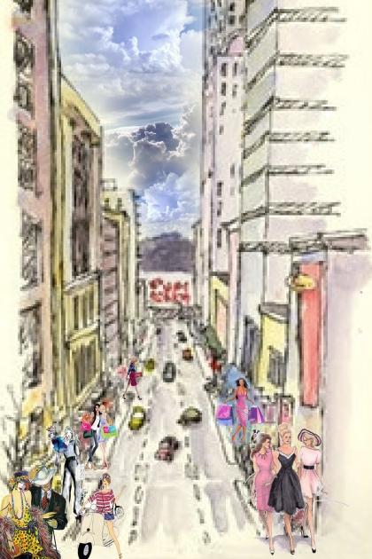 On a busy street