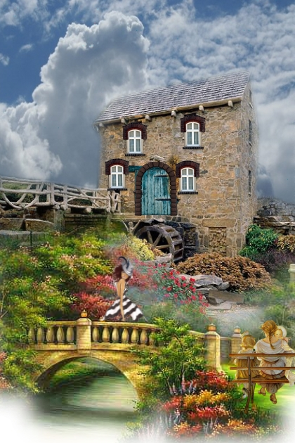 Romantic old mill