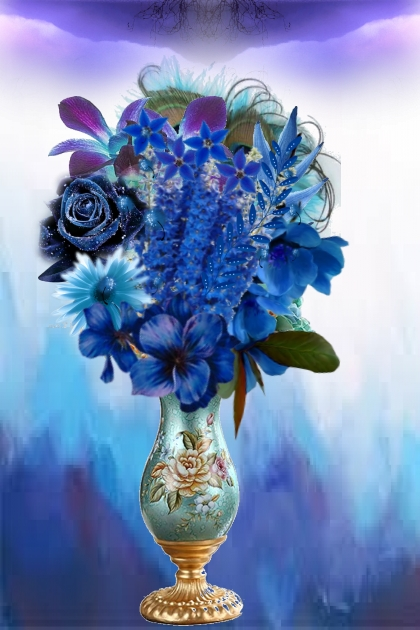 Magical blue flowers