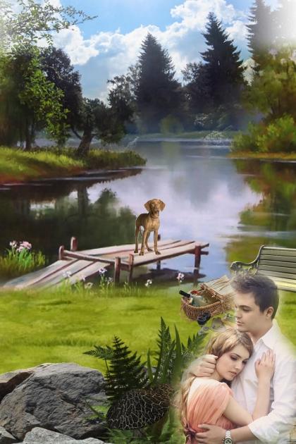 At a quiet lake