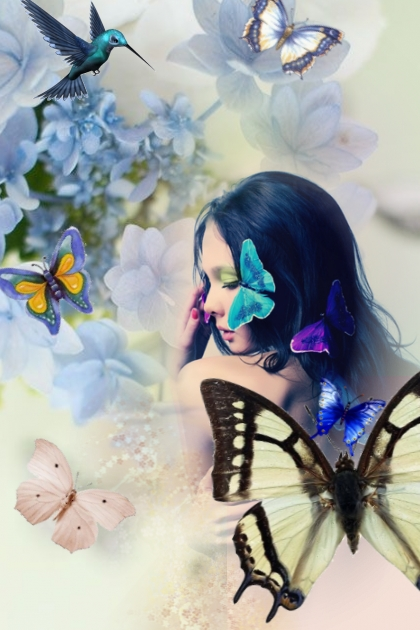Lady butterfly