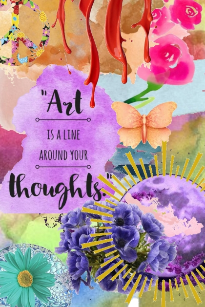 A line around the thoughts