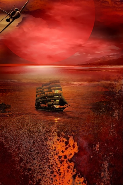 The sea in red
