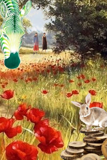 Wild life on the poppy field