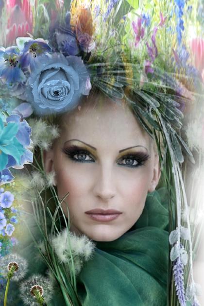 A blue flower- Combinaciónde moda