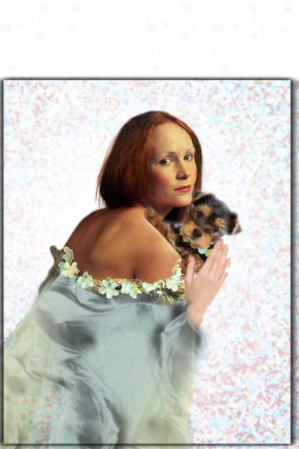 A lady with a pet dog