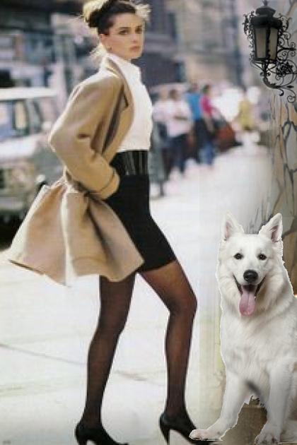 A girl with a dog 2
