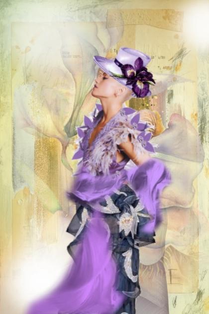 A lilac dress