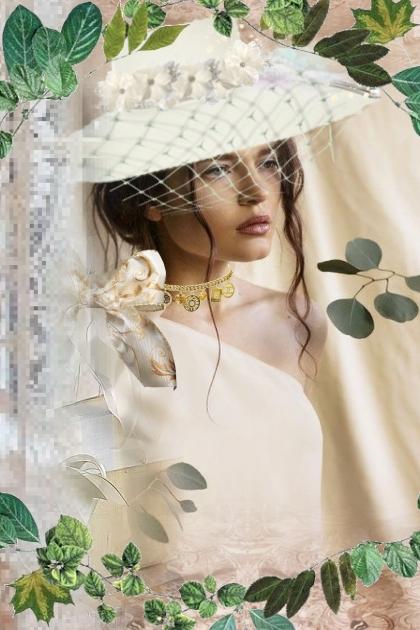A girl under veil