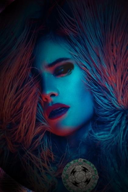 A blue lady