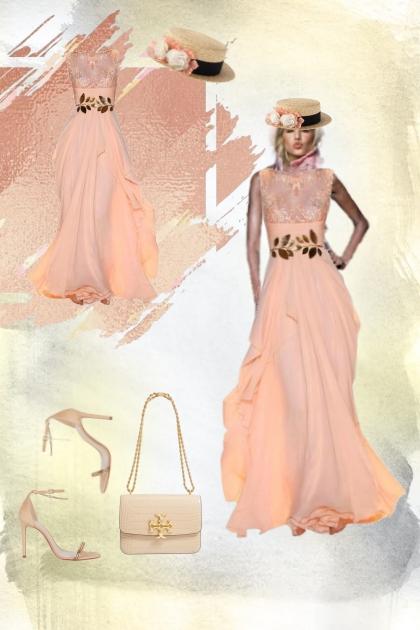 An apricot dress