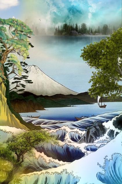 A Japanese landscape