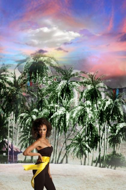 On the palm beach