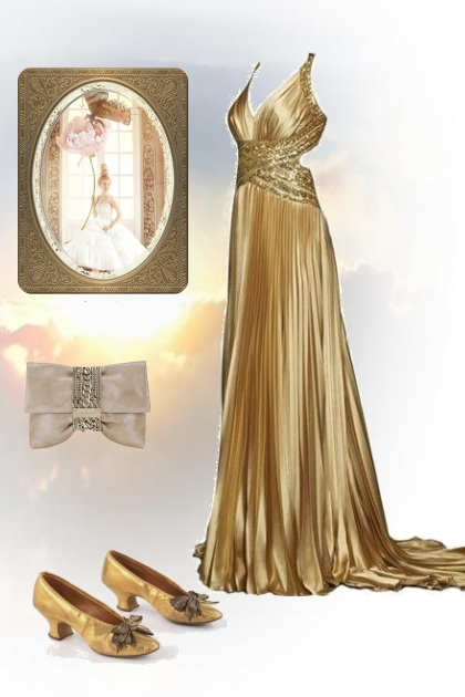 A golden dress
