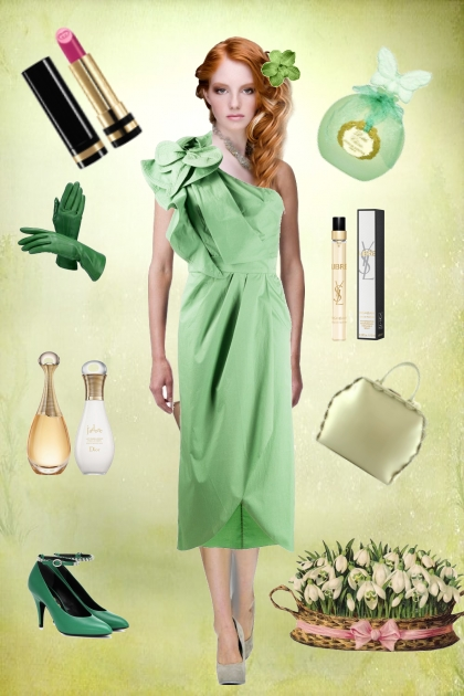 A green dress