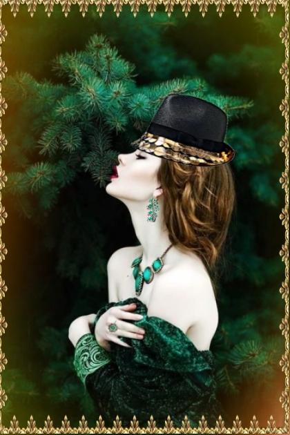 A lady in green 2
