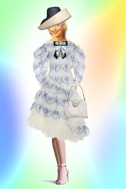 A scalloped dress