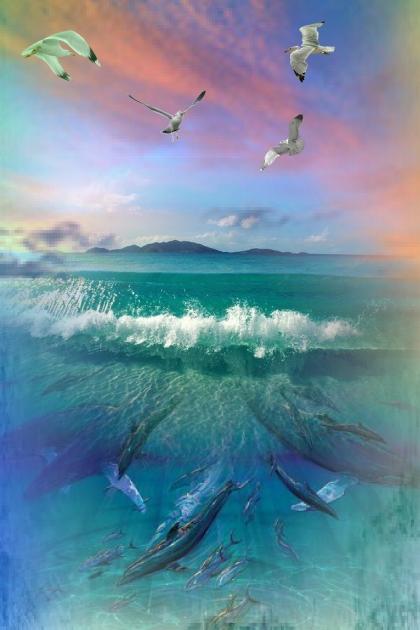 Under water, in the sky