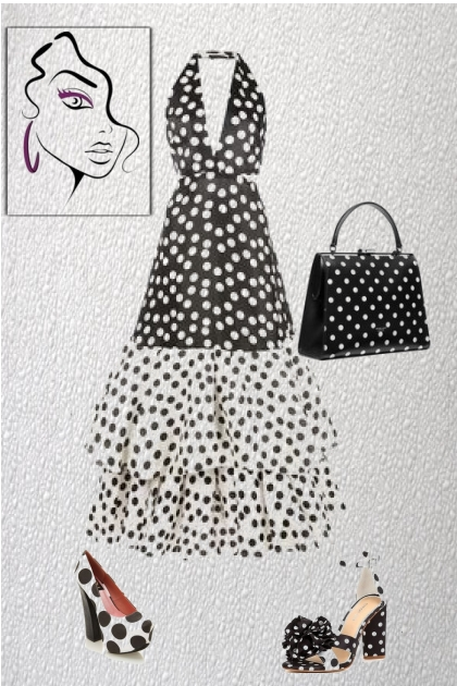 A polka dot outfit