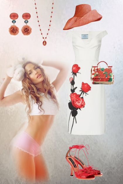 Summer rose dress