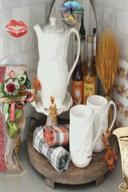 A jug and mugs