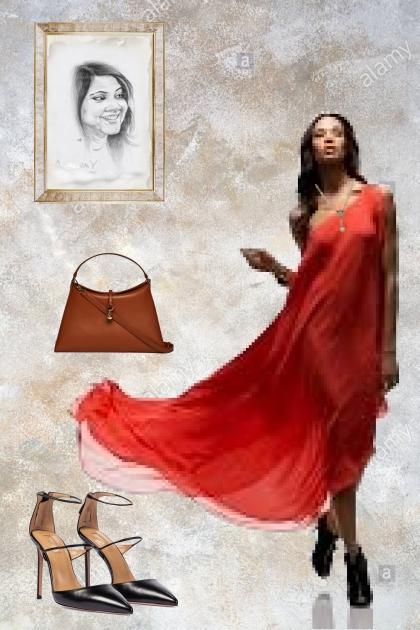 A festive red dress