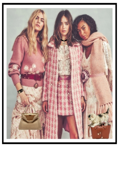 Trio in pink