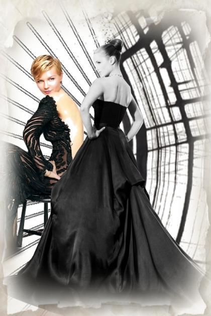 Two ladies in black