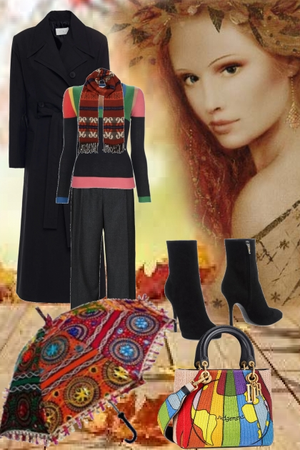 Bright autumn outfit