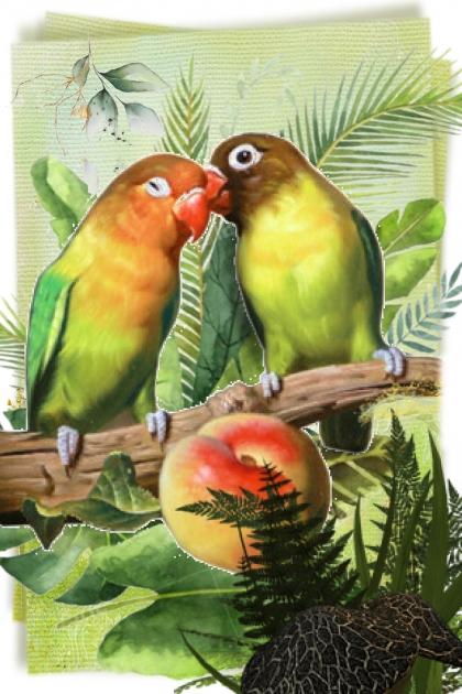 Parrots' kiss