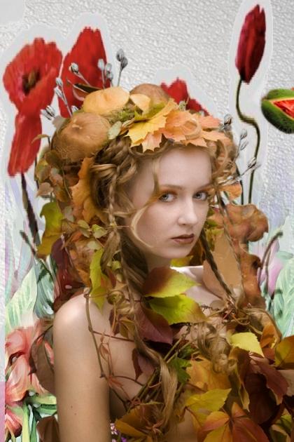 Dressed in fallen leaves