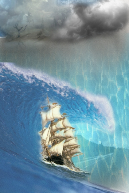 Sea storm