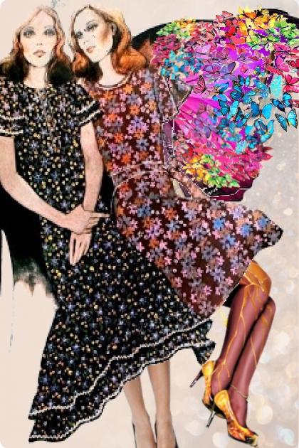 Lady butterflies