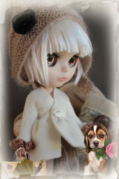 A doll in a white coat