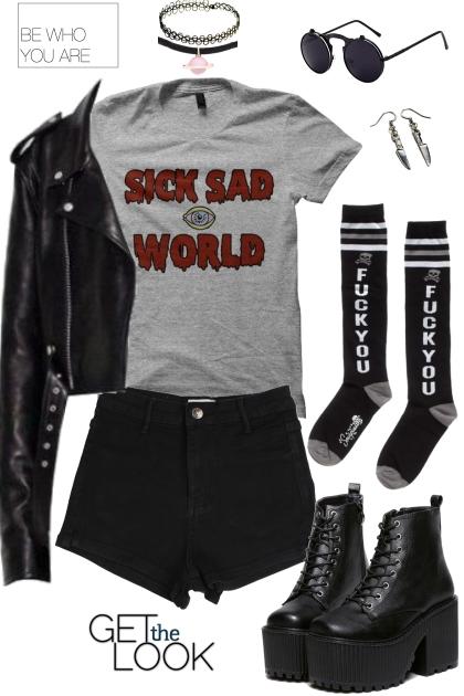 Joan Queens  style grunge- Combinazione di moda