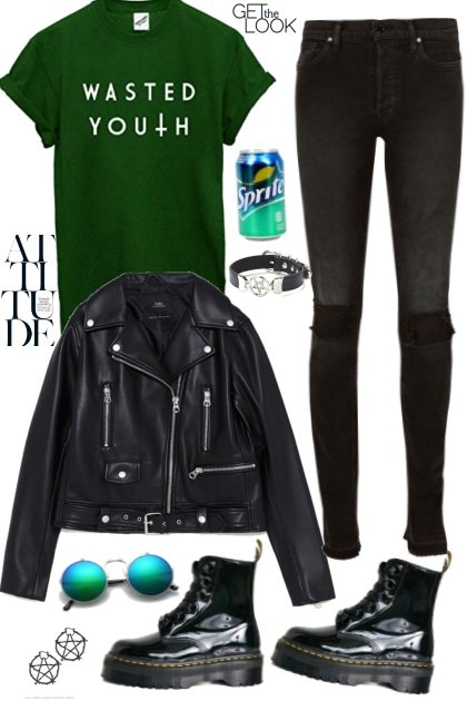 Grunge green&black mood JoanQueens