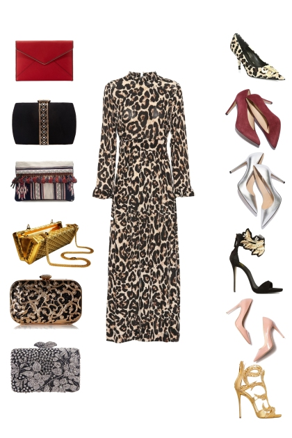 Match the bags and the shoes to the dress