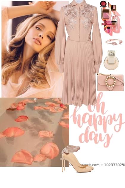 Pink pastel look